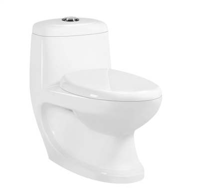 Washdown one piece toilet p-trap 180mm Roughing-in for India market