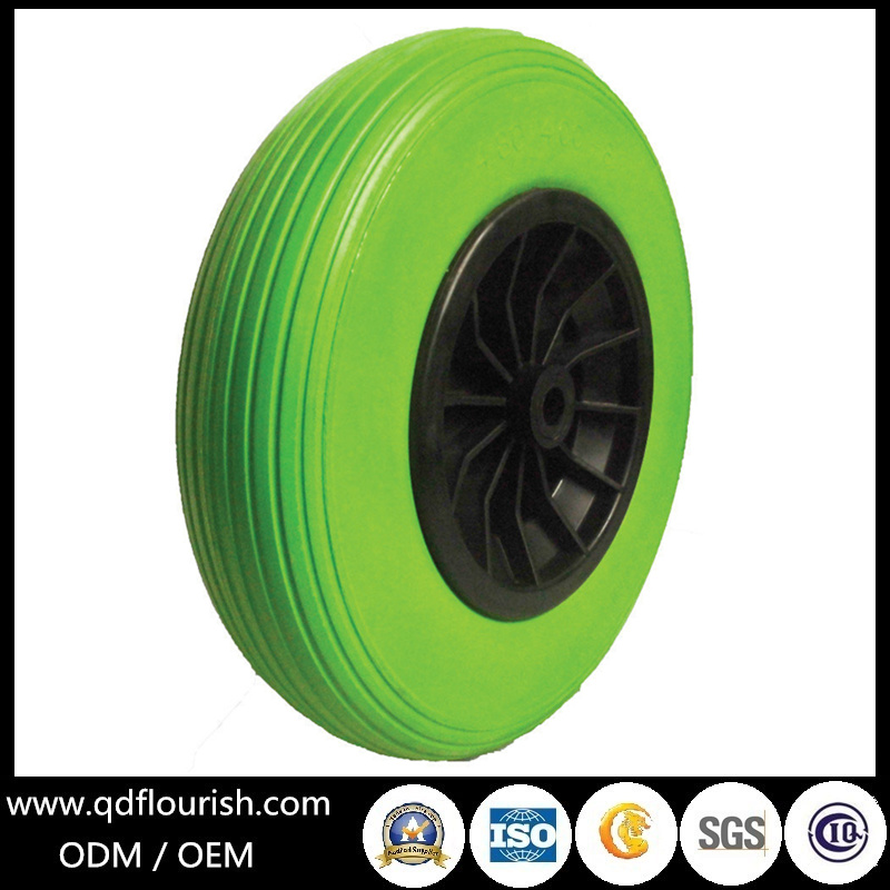 Solid Flat Free PU Foam Wheel for Wagon Carts