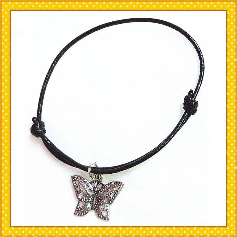 alloy fashion butterfly charm bracelet