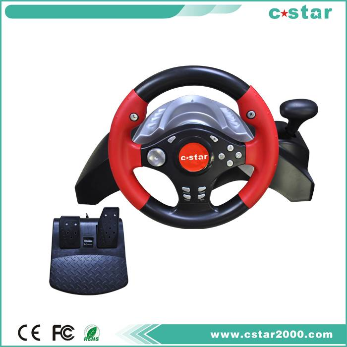 vibration game steering wheel\racing wheel for PS2/PS3/PC USB
