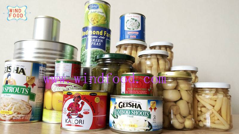 canned food canned vegetable in tin / jar