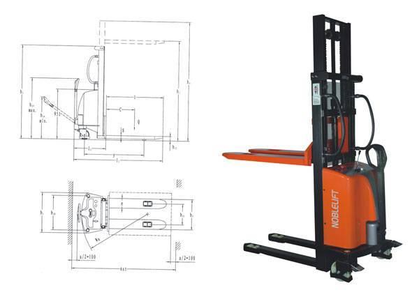 Semi-electric Stacker SPM1016/25/30