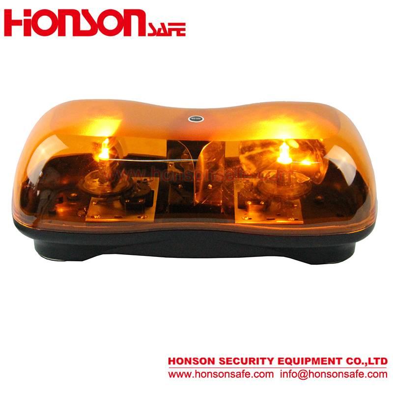 LED Rotating halogen warning Mini Lightbar HSM-200