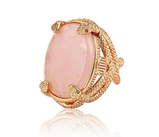 Fashion gold plated jewelry big stone ring designs