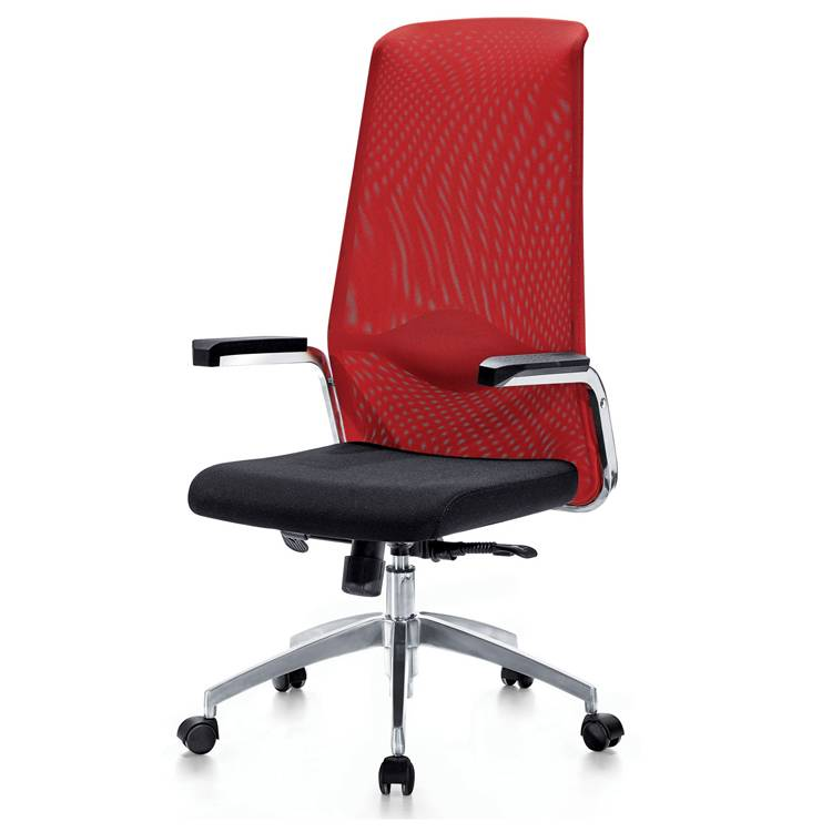 Full mesh office chair with metal tube armrest PU arm padding