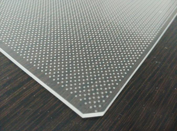 PMMA LGP v-cutting light guide plate for LED advertising box