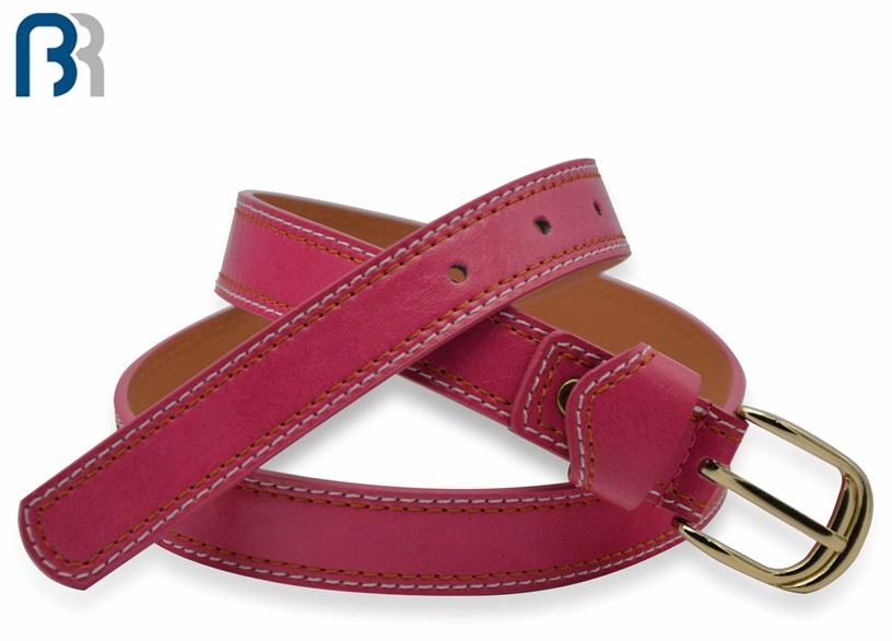 Ladies Colorful Stitching PU Belt