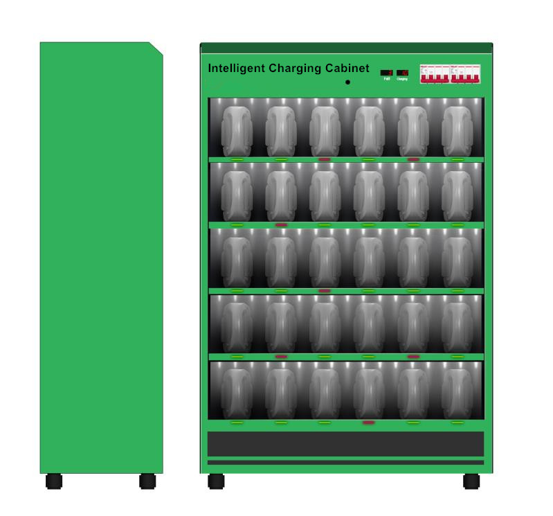 Intelligent Charging Cabinet For Lithium Battery With BMS in Electric Vehicles