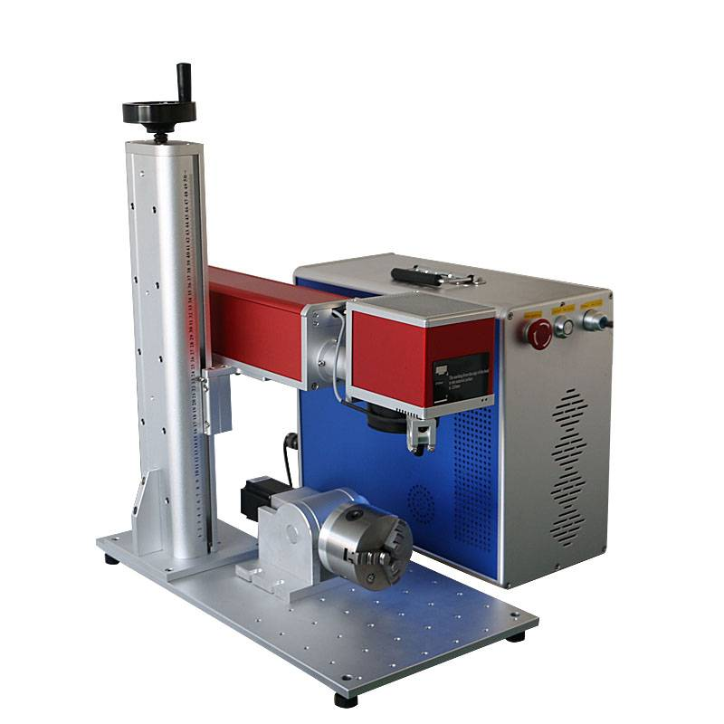 20w fiber laser marking machine on stainless steel parts