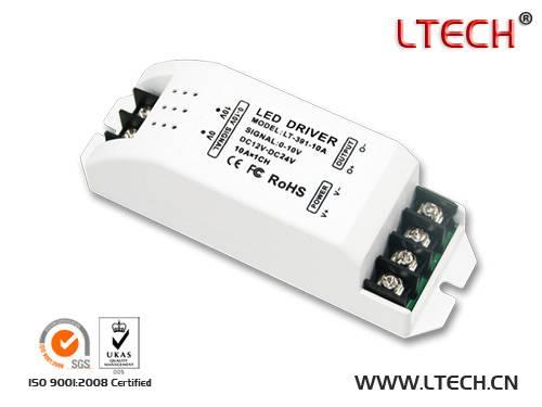 LT-391-10A 0-10V CVsignal LED Dimming Driver 10A /CHx1 Max 10A DC12V-24V