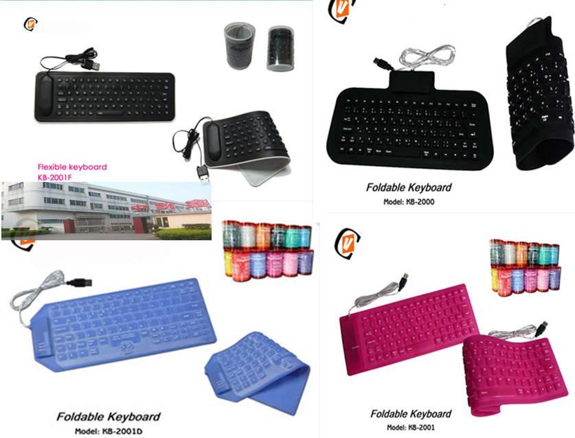 85 Keys Flexible silicone Keyboard