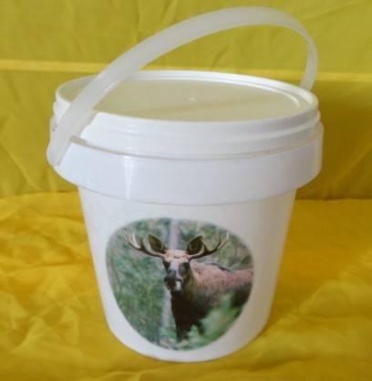 2litre white plastic bucket