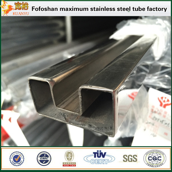 competitive price 316 slot stainless steel square tubes