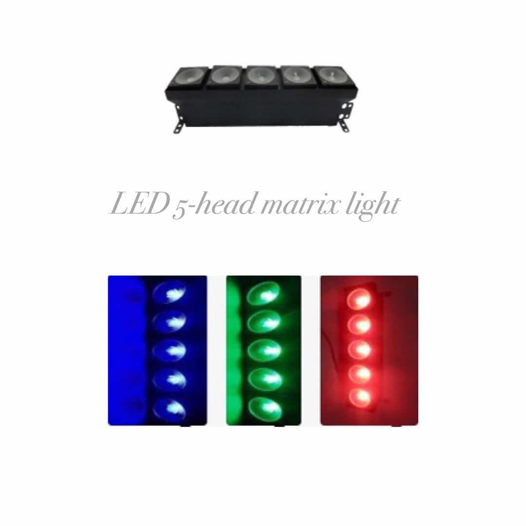 LED 5-head matrix light
