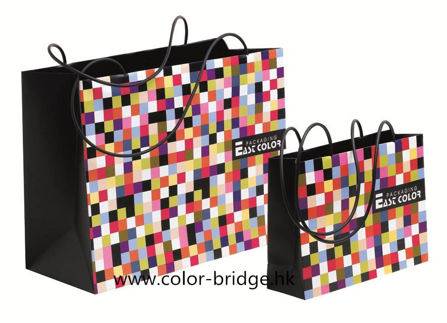 Luxurious Customizing Shopping Paper Bag Portable Gift Bag
