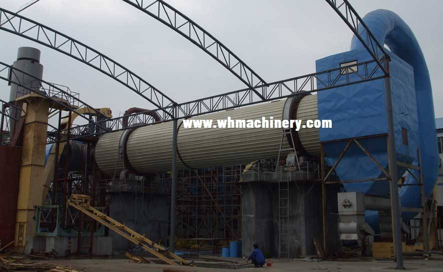 3-pass hot air dryer / particle board production line
