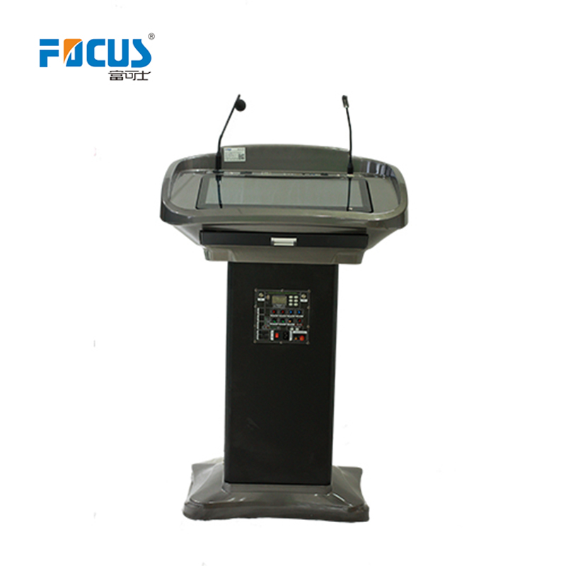 """Speaker Podium conference Platform with 21.5"""" touch AIO PC"""
