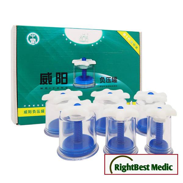 Chinese Medical Device Twist Top Magnetic Cupping Set - 6 cups Cupping Massage Magnetic Therapy