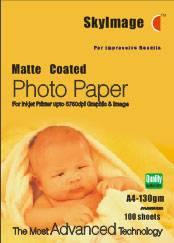 130g Inkjet Matte Coated Photo Paper