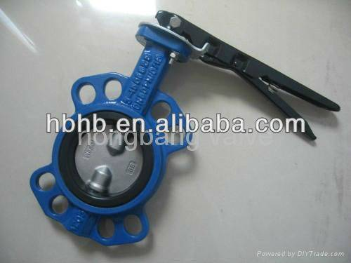 High quality dn100 handle wafer butterfly valve manufacture