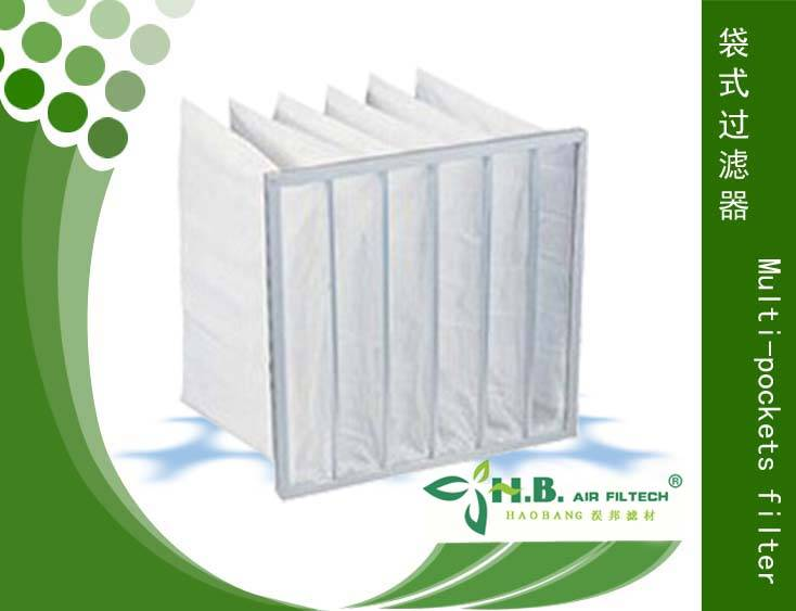 synthetic fabric filter bag air filter for air conditioner
