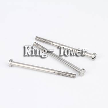 China screw manufacturer Stainless Steel flat slotted head half thread screw
