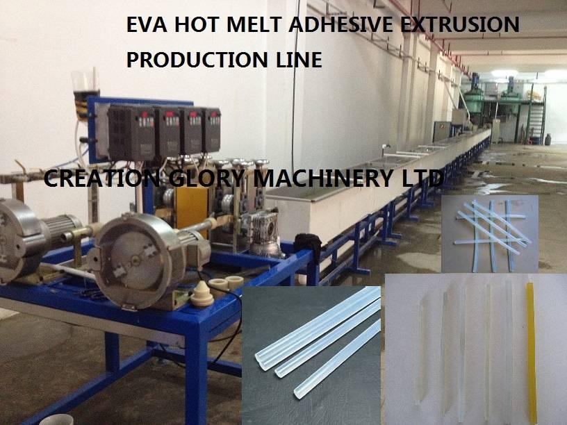 Newly developed EVA hot melt adhesive rod plastic extrusion machinery