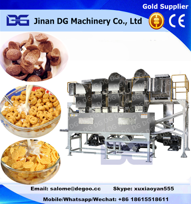 Automatic breakfast cereals choco flakes/shell/ chips making machine production line