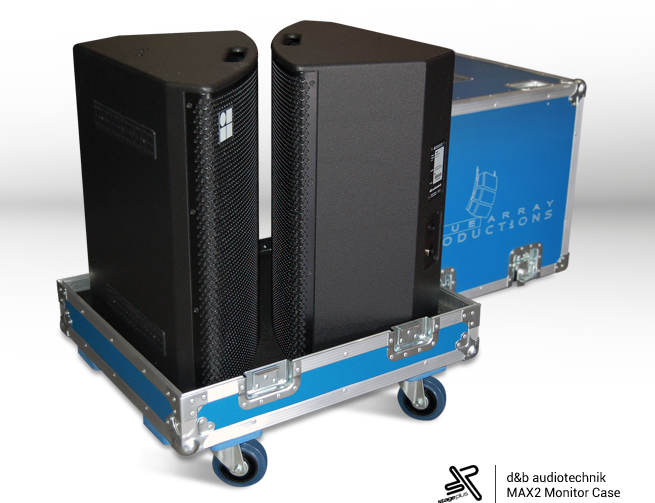 speaker Flight case blue custom color