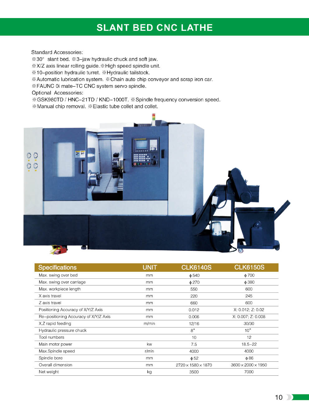 CNC Lathe machine with fanuc cnc controller