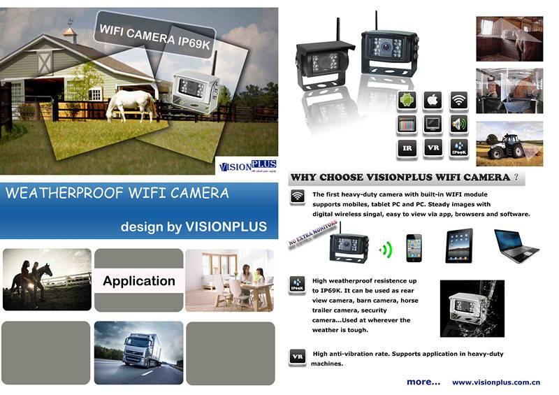 Waterproof WIFI Rear View Camera