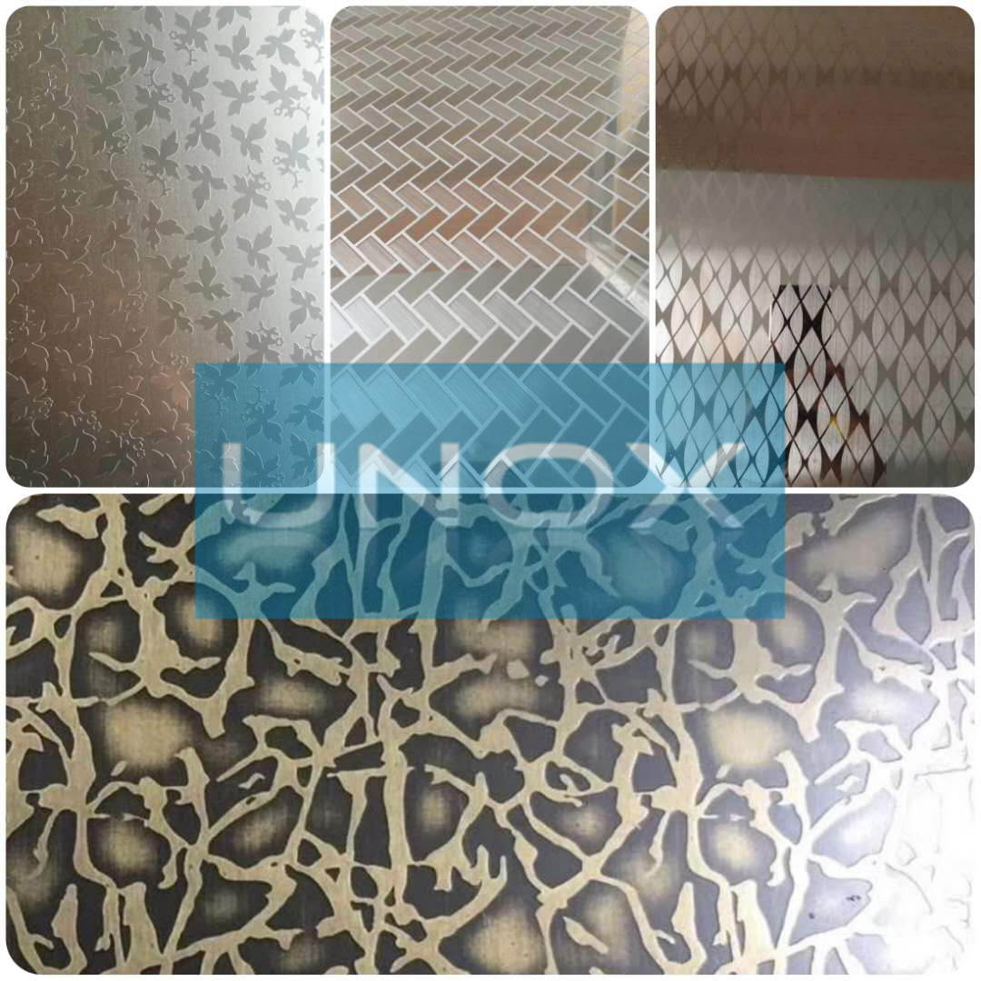 New Pattern Etching Stainless Steel Sheets