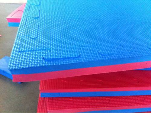 Red/black EVA exercise mat judo mat foam mat
