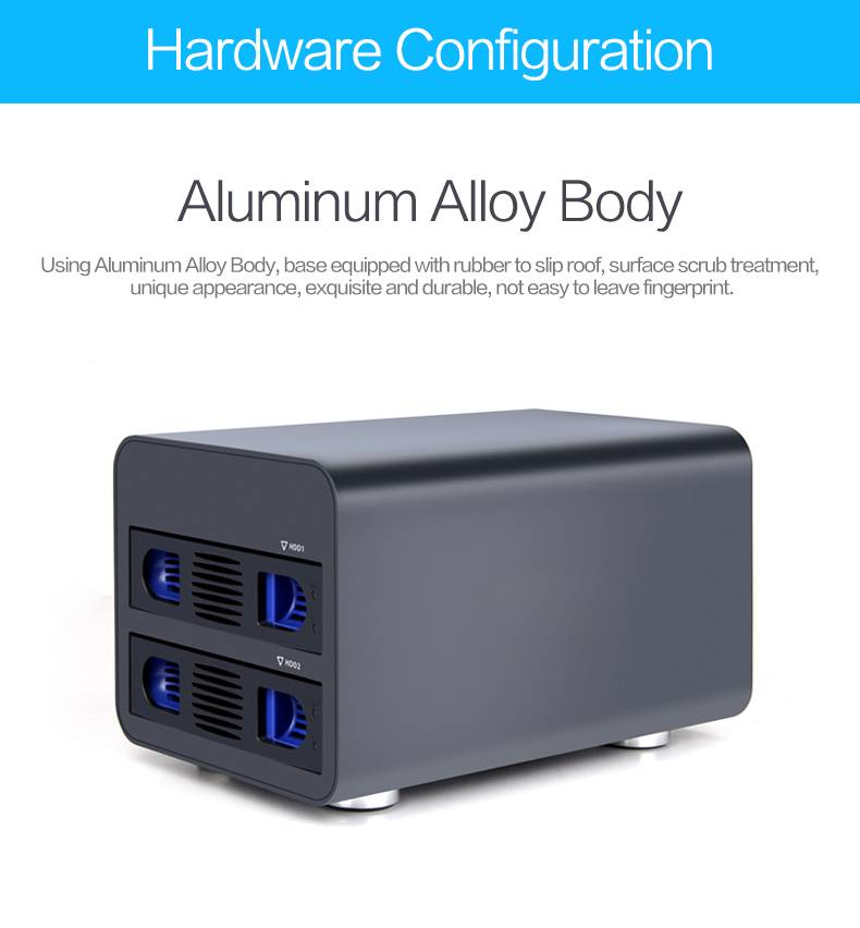Usb3.0 External Hdd Case for 2 bay Hard drives