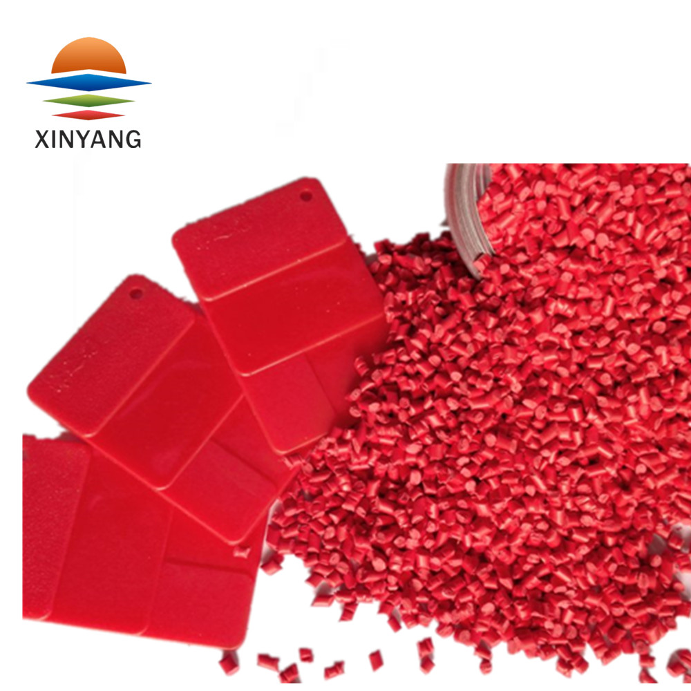 Good dispersibility fine and pure texture plastic red masterbatch
