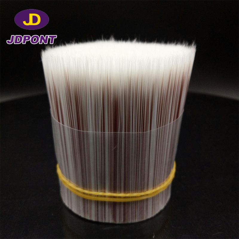 white red hollow solid tapered synthetic brush filament