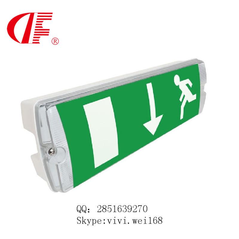 LED waterproof exit sign, IP66 emergency headbulk, 8W3hours for Europe market