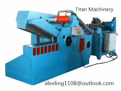 metal scrap shearing machine
