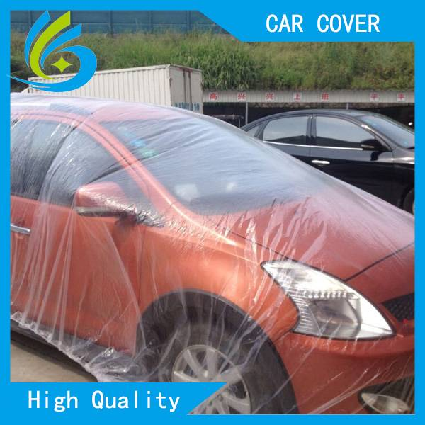PEVA plastic disposable dust car cover