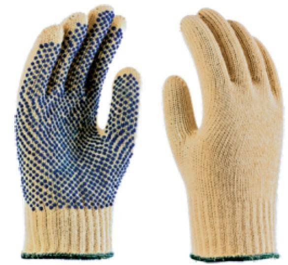 special fiber gloves / pvc dotted