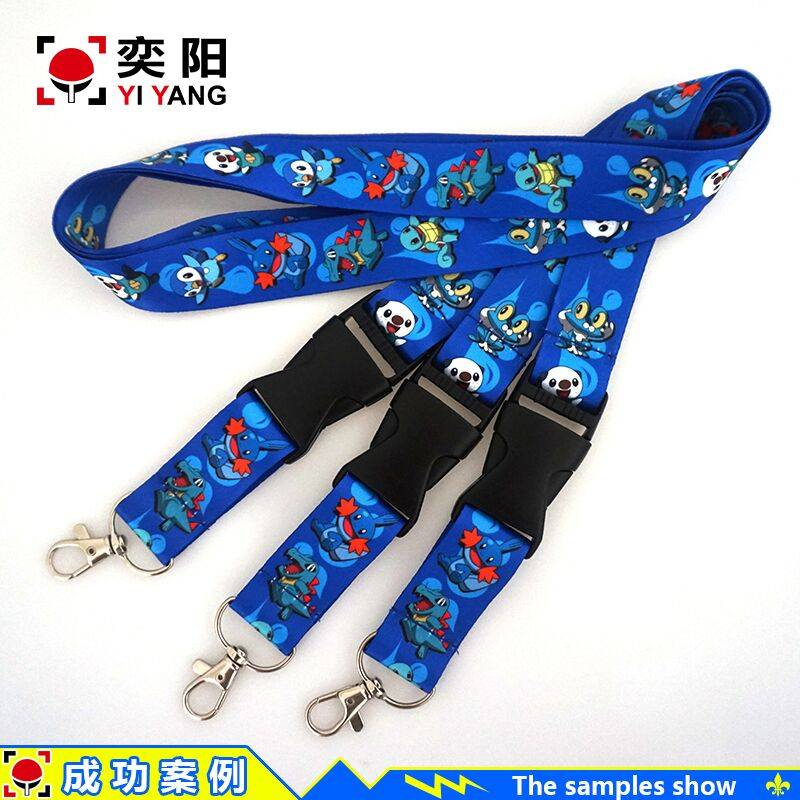 Reach EU standard NO MOQ custom printed neck lanyards