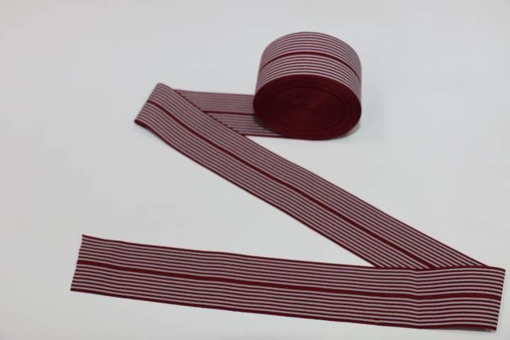Customized woven elastic webbing with metallic yarn for sale