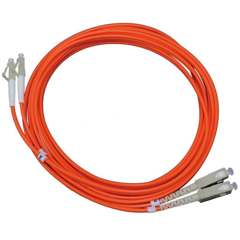 Multi modeLC-SC(PC/UPC) patch cord(duplex)