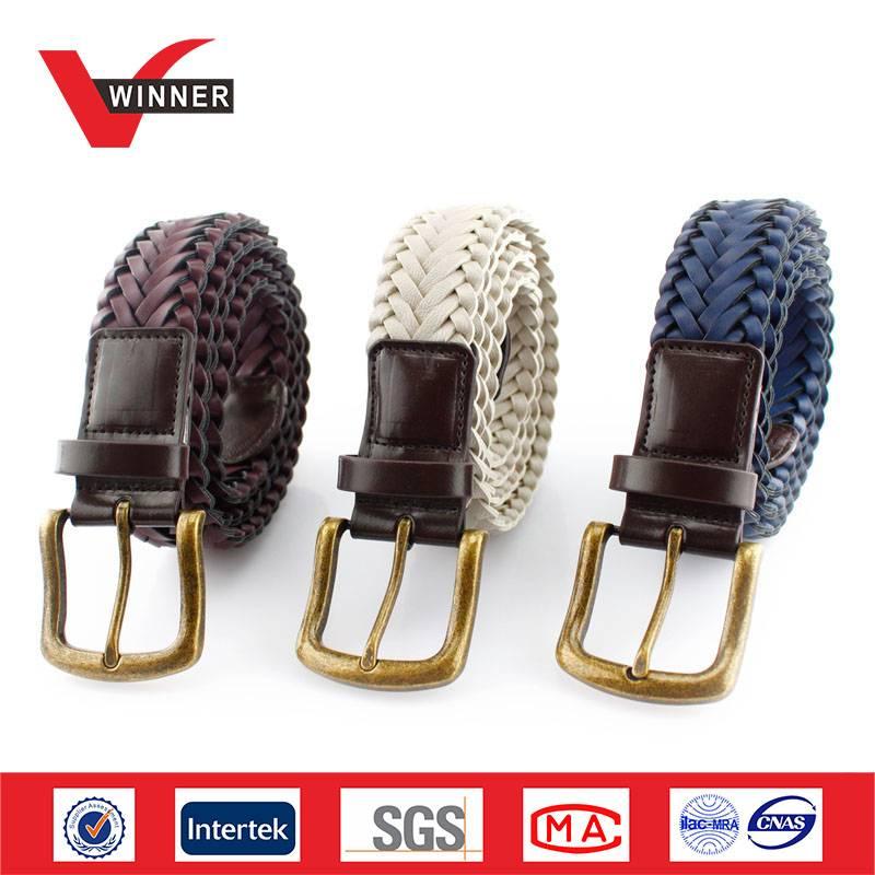 Hand braided Men's casual PU Belts