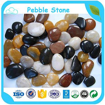 2-4cm Polishing Natural Pebble Stone / River Stone For Garden Landscaping