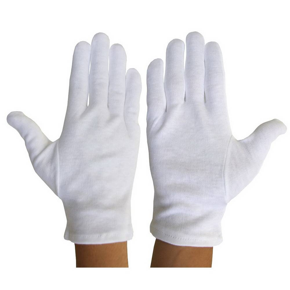 Safety Work Inspection White 100% Cotton Gloves