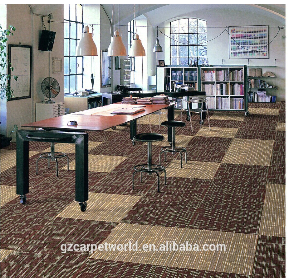 China supplier thick office carpet tile with nylon material