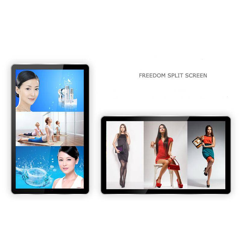 Manufactory 50 Inch LCD Screen HD Monitor Split Screen Video or Pictures with WIFI Advertising Plays