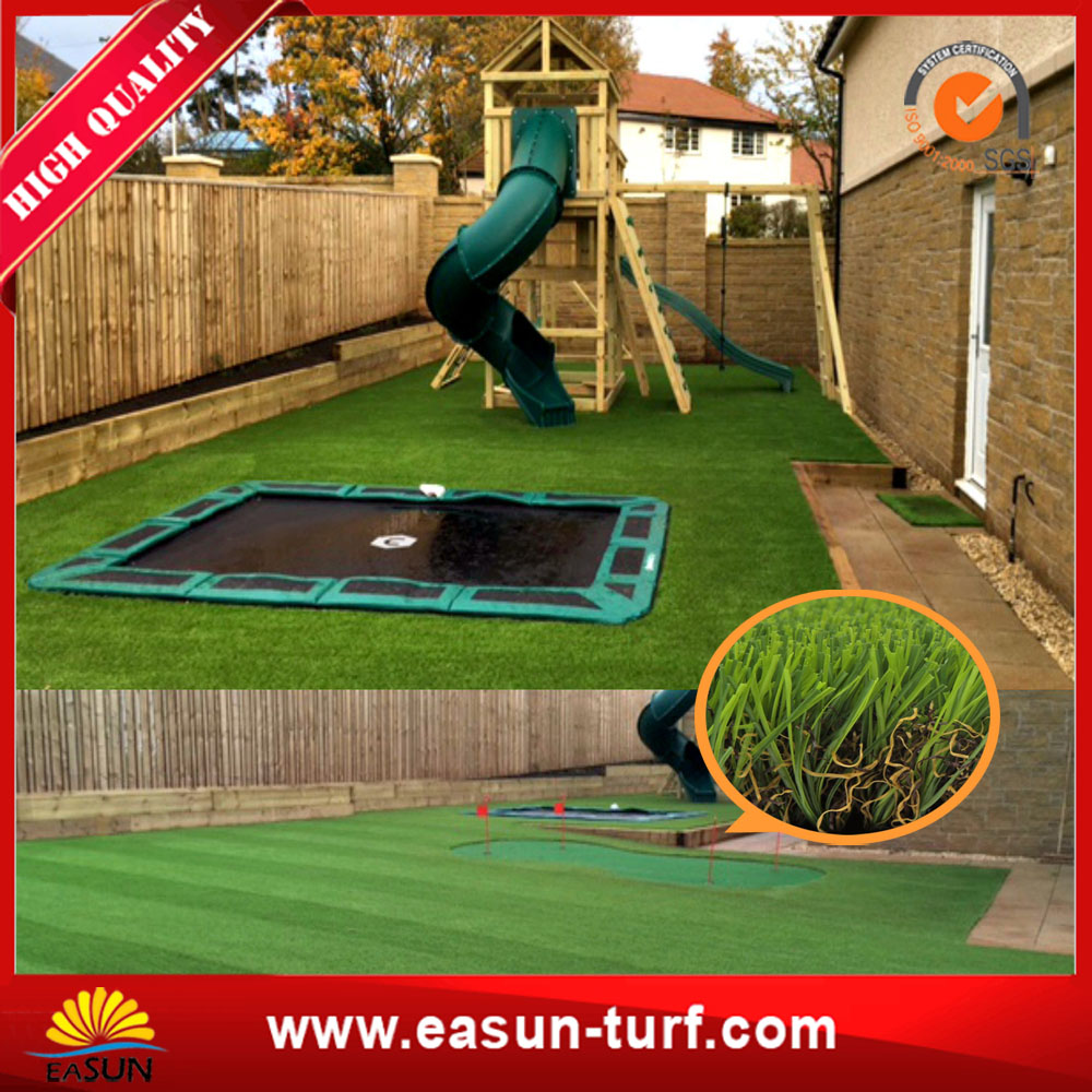 Top quality and lowest price Chinese Artificial grass for garden-ML