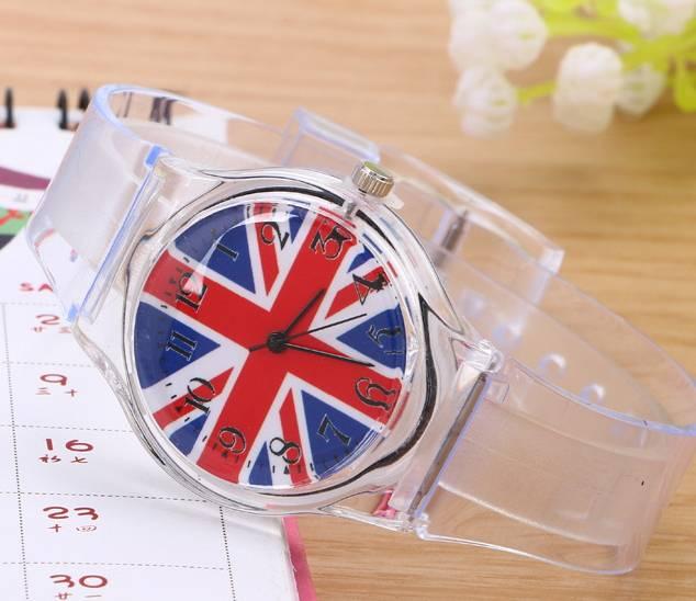 transparent fashion silicone watch wrist pocket watches